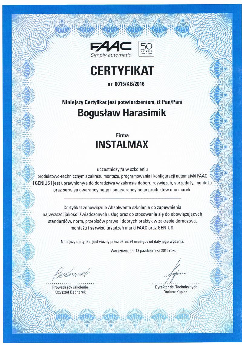 Certyfikat_FAAC